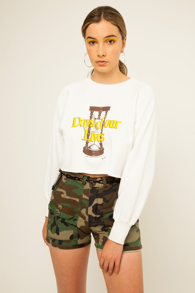 Days of Our Lives Cropped Sweater