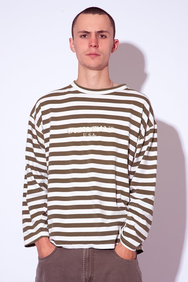 GUESS Striped LS