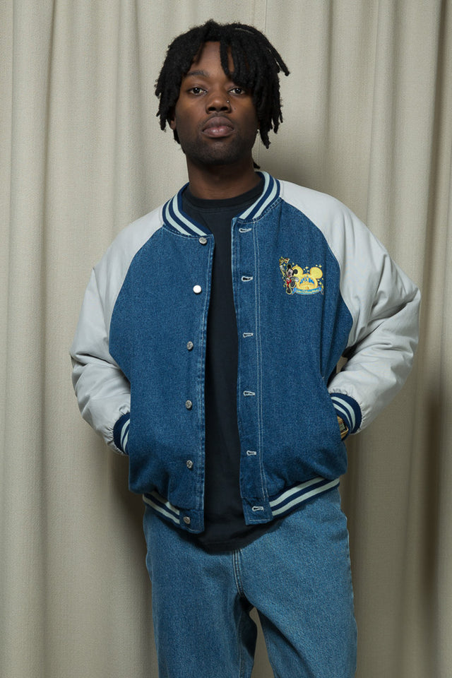 Mickey Denim Bomber