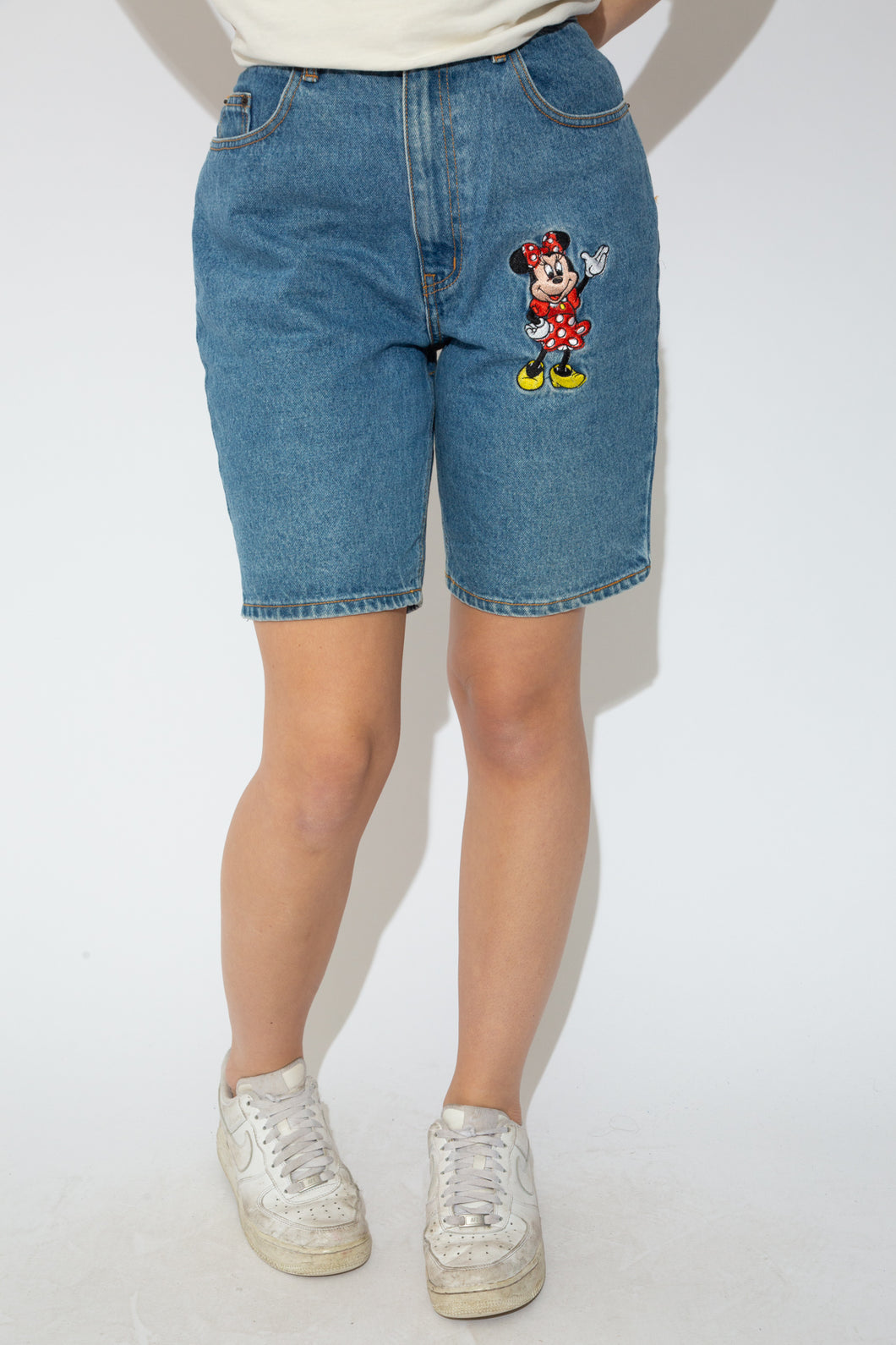 Model wearing mickey shorts, magichollow
