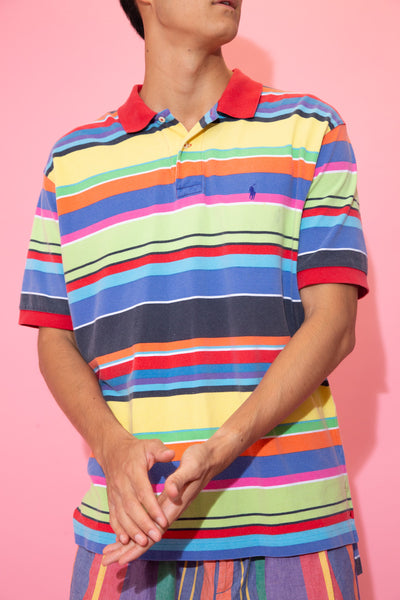 Ralph Rainbow Striped Polo