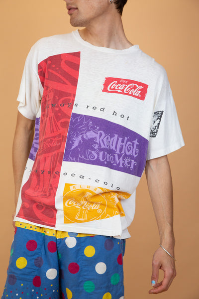 coca cola tee in a red colour-way. 90s vintage. magichollow.