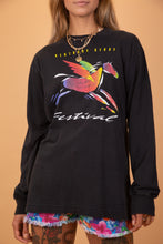 Load image into Gallery viewer, black longsleeve with graphic of a pegasus on the front