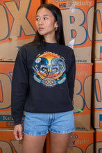 Load image into Gallery viewer, the model wears a black sweater with a super bowl xxx logo on the front