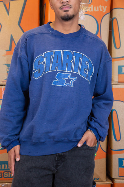 Distressed Starter Sweater