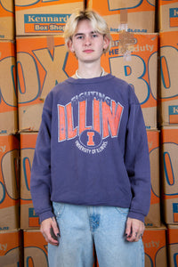 Distressed Fighting Illini Sweater
