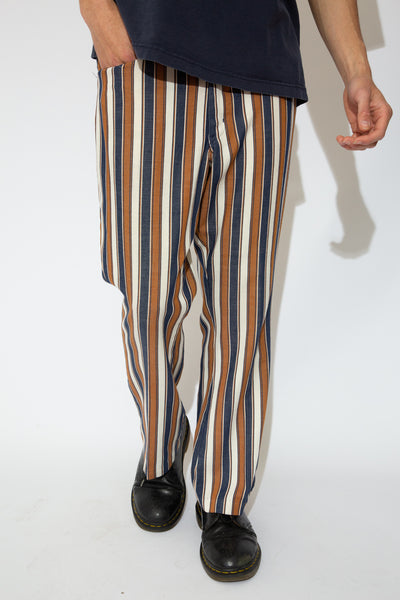 blue, navy and beige stripped pants. 90s vintage. magichollow.