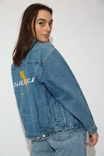 Load image into Gallery viewer, model wearing nautica denim jacket, magichollow