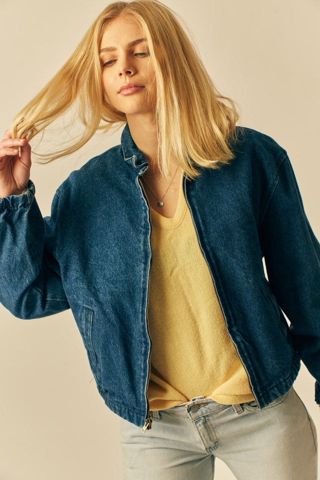 Claudia Denim Bomber