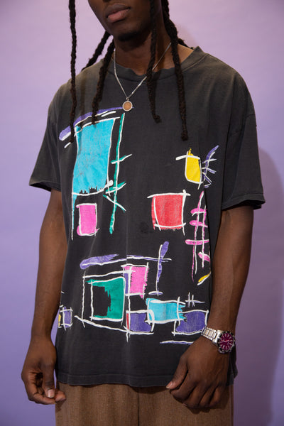 Distressed Abstract Tee