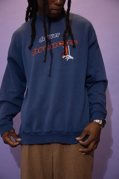 Distressed Denver Broncos Sweater
