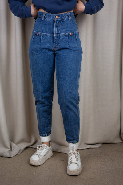 Dark Blue Wash Carrot Jeans