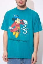 Load image into Gallery viewer, Turquoise tee with a large Mickey Mouse print on the front and Walt Disney World' printed below.