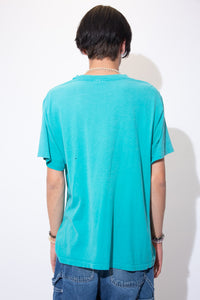 Turquoise coloured single stitch tee with a textured print of a cactus on the front. Repping 'Arizona' below