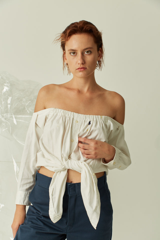Ralph Lauren Off The Shoulder Top