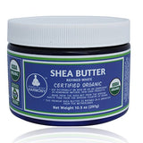 REFINED SHEA BUTTER Certified Organic - STARK WHITE - organically Refined 10.5 oz BPA Free Jars
