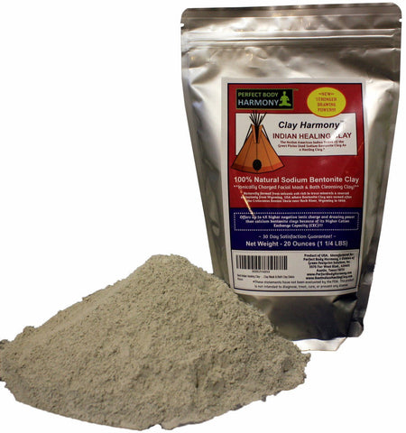 Clay Harmony - Best Indian Healing Clay / Sodium Bentonite - Large 20 OZ Bag