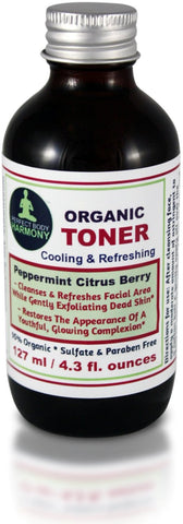 Organic Facial Toner - Peppermint Citrus Berry by Perfect Body Harmony Brand