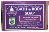 Organic Lavender Oatmeal Bath & Body Soap from perfect body harmony