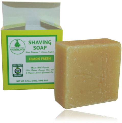 Organic Shaving Soap - Lemon Fresh - perfect body harmony