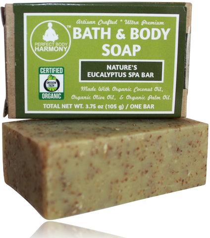 Organic Soap - Nature's Eucalyptus Spa Bar Bath & Body Soap