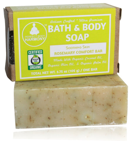 Organic Soap - Soothing Skin Rosemary Comfort Bar (Eczema Relief)