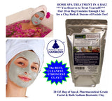 "Spa in Bag - PREMIUM 100% Natural PHARMACEUTICAL GRADE ""SODIUM"" Bentonite Clay"