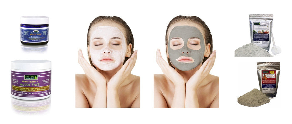 spa quality natural clay mud masks and detox clays