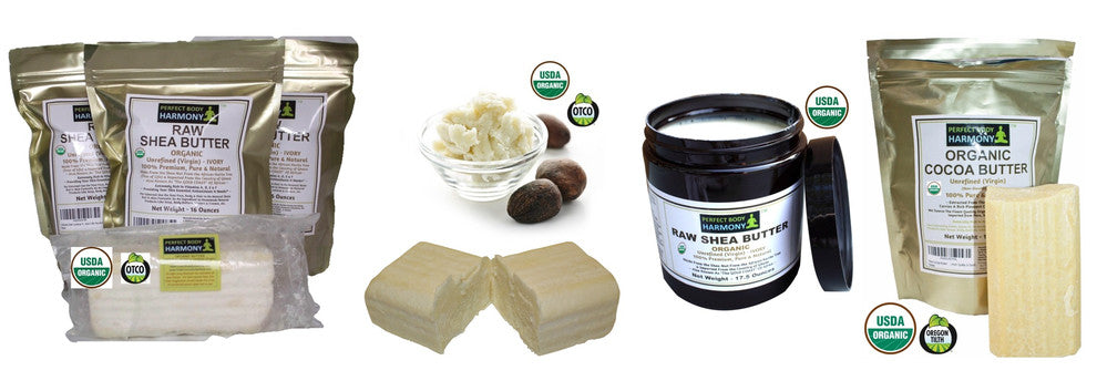 certified organic body butter including shea and cocoa butter