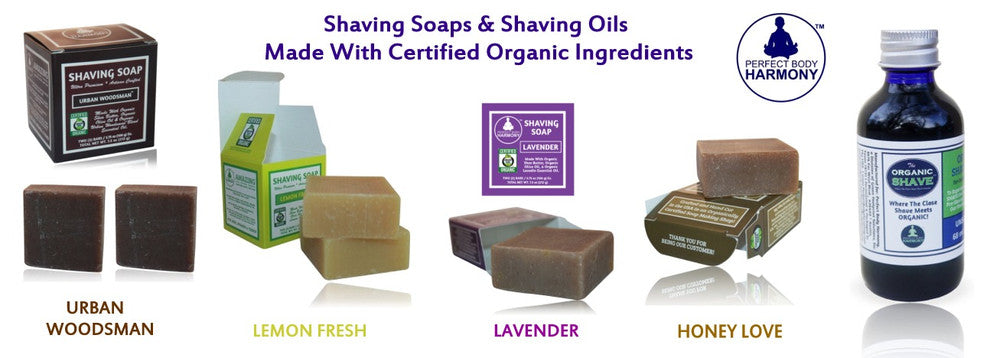 Organic Shaving Soaps and oils