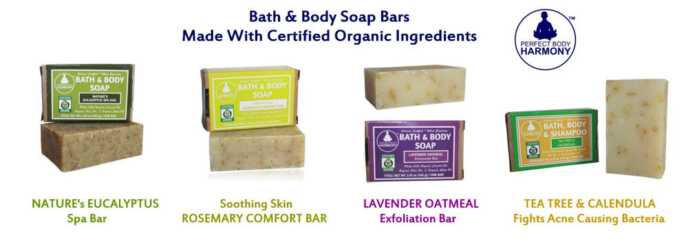 """Made With Organic"" bath and body Soaps"
