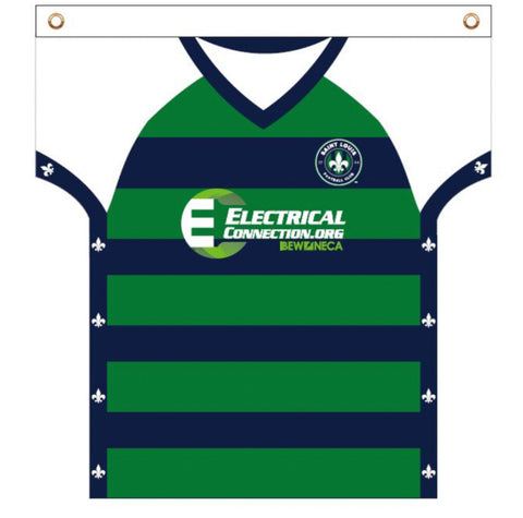 "Electrical Connection ""Shop With A Cop"" Jersey Flag -"