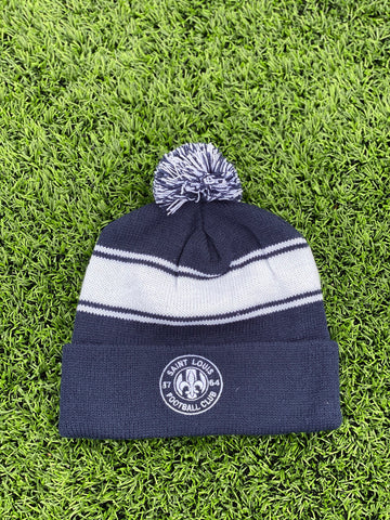 STLFC White Primary Logo Knit Hat