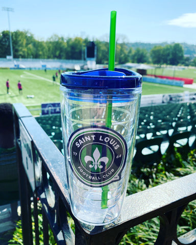 STLFC Logo Patch 16 oz Tumbler