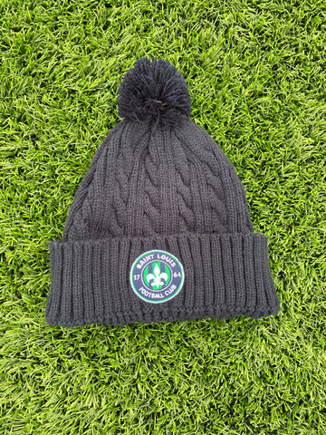 STLFC Navy Cable Knit Hat