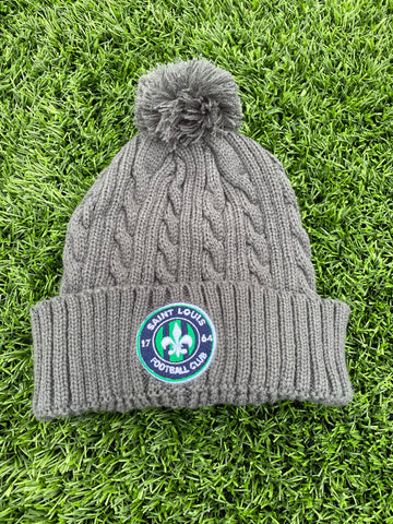 STLFC Graphite Cable Knit Hat