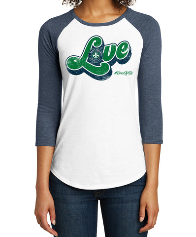 "STLFC Women's 3/4 Sleeve ""LOVE"" Ragland T"