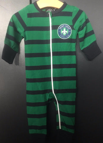STLFC Navy/Green Infant Sleeper