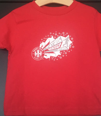 FUTURE SOCCER STAR YOUTH TEE-RED