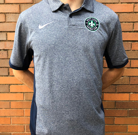 STLFC 2018 Heather Navy Primary Logo Polo - Men's
