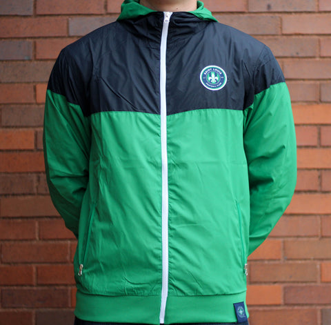 STLFC 2017 Green/Navy Full Zip Wind Jacket - Men's