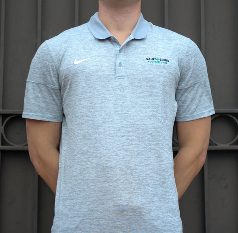 STLFC Heather Gray Primary Logo Polo - Men's