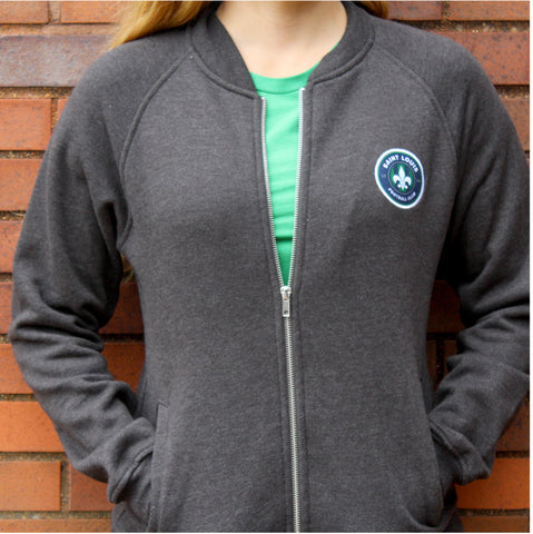 STLFC Gray Baseball Jacket - Women's