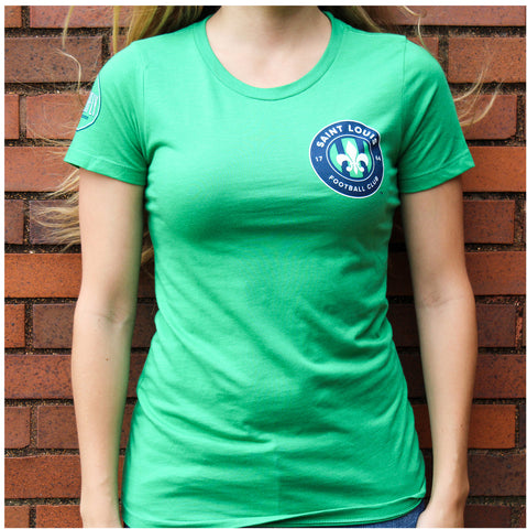 STLFC 2016 Schlafly Green T-Shirt-Womens