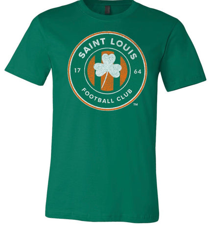 Saint Louis FC - St. Patricks Day Shamrock Womens T-Shirt