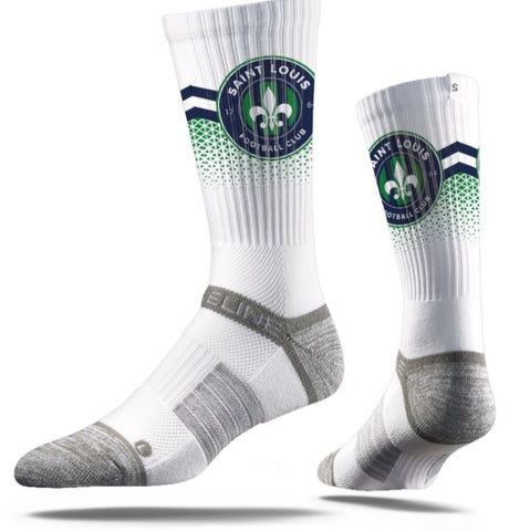 Strideline Crew Socks - STLFC Primary Logo Design