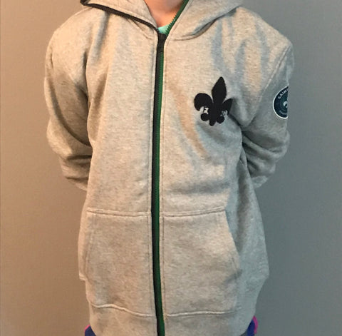 STLFC Grey Full Zip Youth Hoodie
