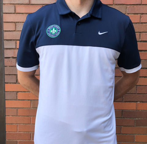 STLFC 2017 White/Navy Nike Polo - Men's