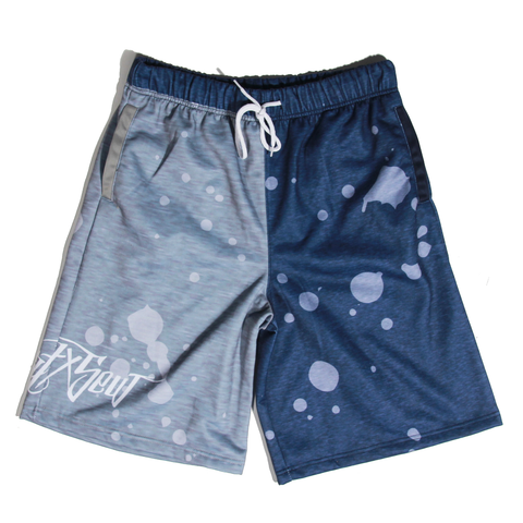 Filthy Dripped Art and Sew Jordan 11 Georgetown Fleece Shorts
