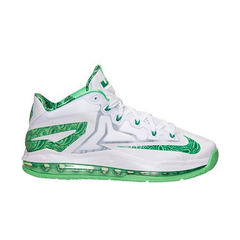Lebron 11 Low Easter, WHT/GRN, 10